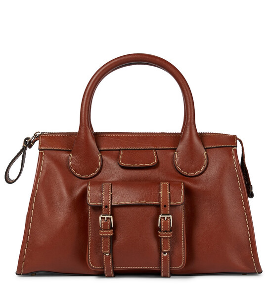 Chloé Edith Medium leather tote in brown
