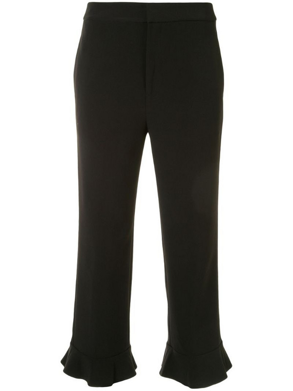 PortsPURE cropped high-waist trousers in black