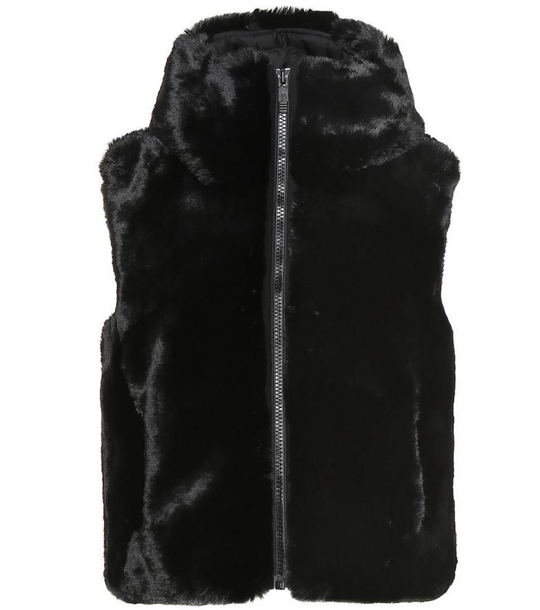 Fusalp Peggy faux fur vest in black