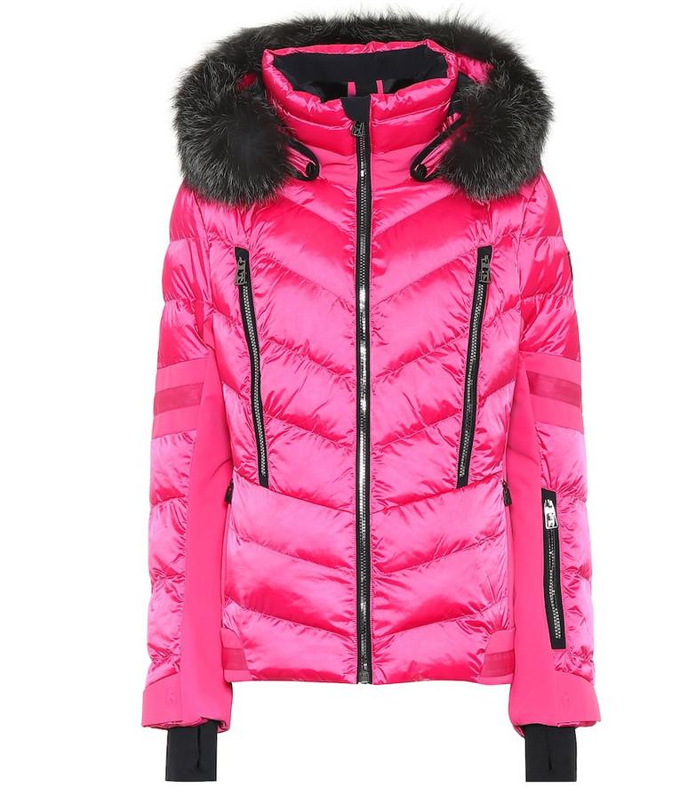 Toni Sailer Nele Splendid fur-trimmed ski jacket in pink