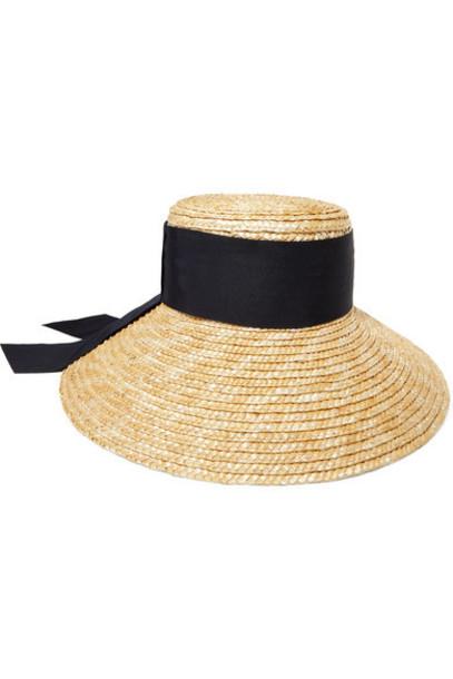 Eugenia Kim - Annabelle Grosgrain-trimmed Straw Hat - Beige