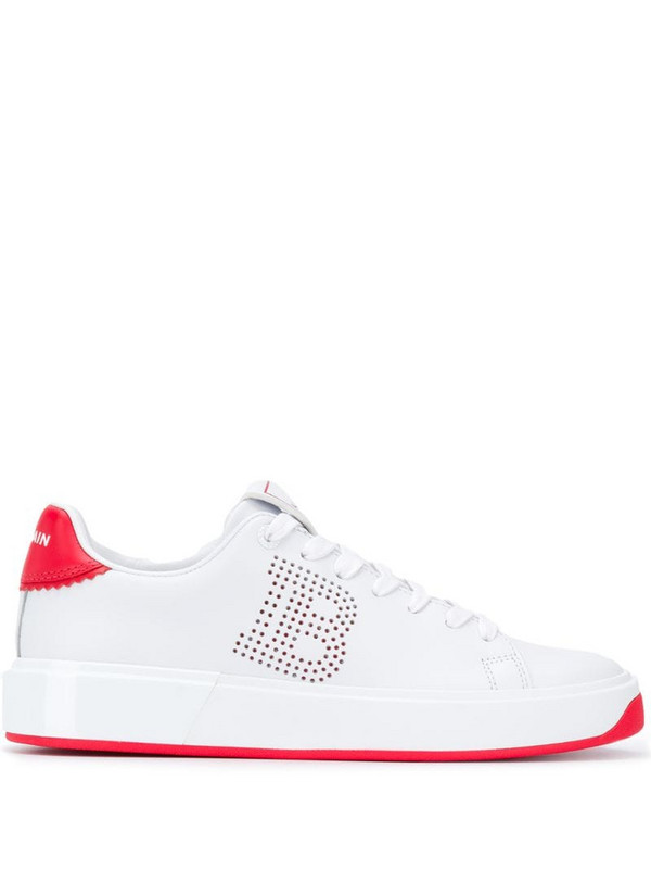 Balmain B-Court low-top sneakers in white
