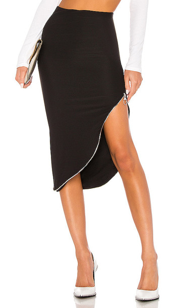 Alix Banner Skirt in Black