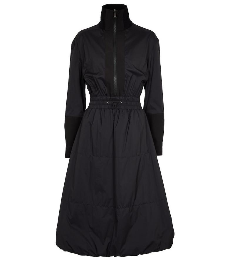 Moncler High-neck nylon dress in black