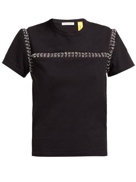 6 Moncler Noir Kei Ninomiya - Chain Seams Cotton T Shirt - Womens - Black