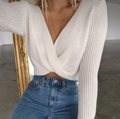 sweater,front knot,knitted sweater