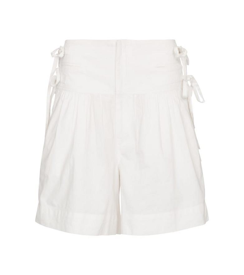 Isabel Marant, Étoile Opala cotton shorts in white
