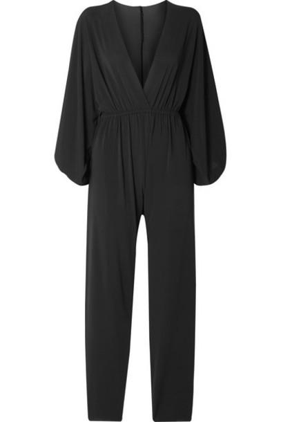 Eres - Lou Oversized Wrap-effect Stretch-jersey Jumpsuit - Black