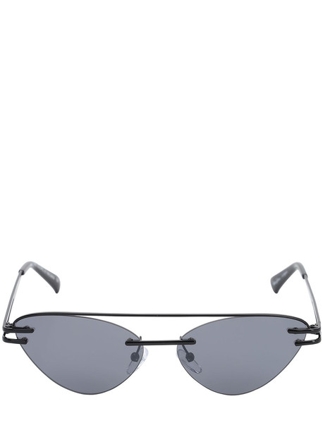 LE SPECS The Coupe Cat-eye Metal Sunglasses in black