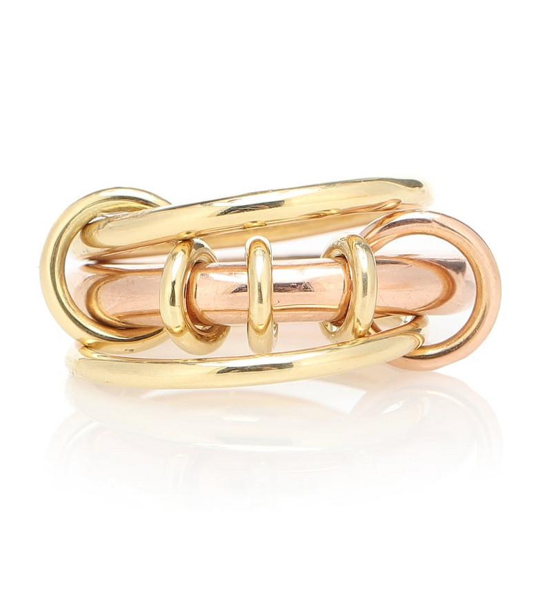 Spinelli Kilcollin Gemini 18kt yellow and rose gold ring in metallic