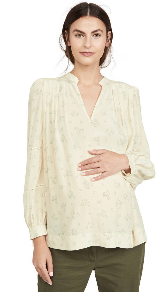 HATCH The Joselyn Blouse in cream