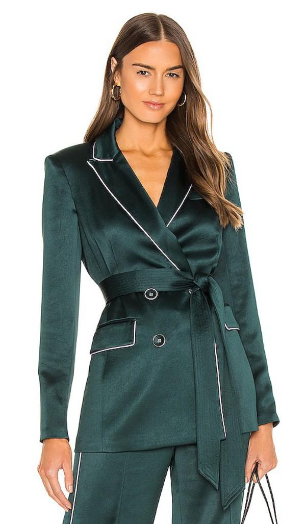 Veronica Beard Eiza Jacket in Dark Green in emerald