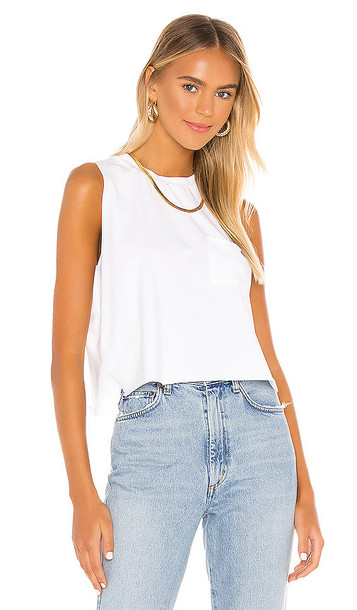superdown Beatrix Pocket Tee in White