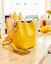 bag,yellow bag