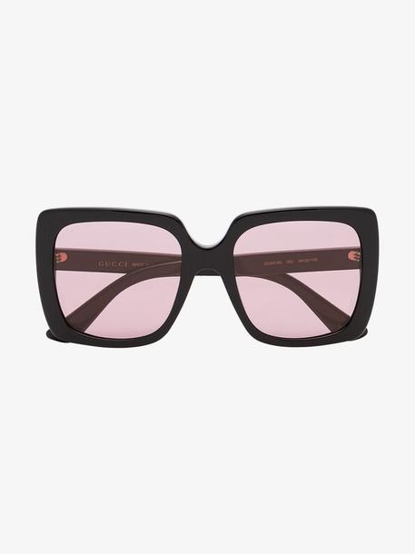 Gucci Eyewear Rectangular-frame acetate sunglasses in black