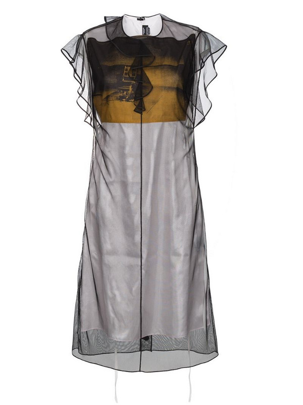Calvin Klein 205W39nyc X Andy Warhol Foundation Layered Tulle and Satin Dress in black