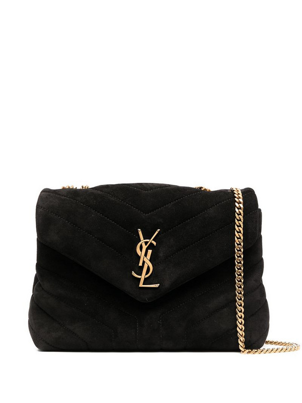 Saint Laurent small Loulou quilted shoulder bag in black