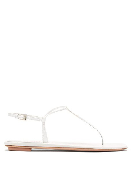 Prada - Patent Leather Sandals - Womens - White