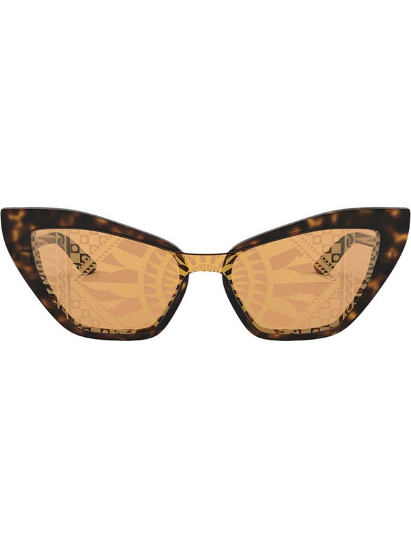 Dolce & Gabbana Eyewear Sicilian Carretto print sunglasses in brown