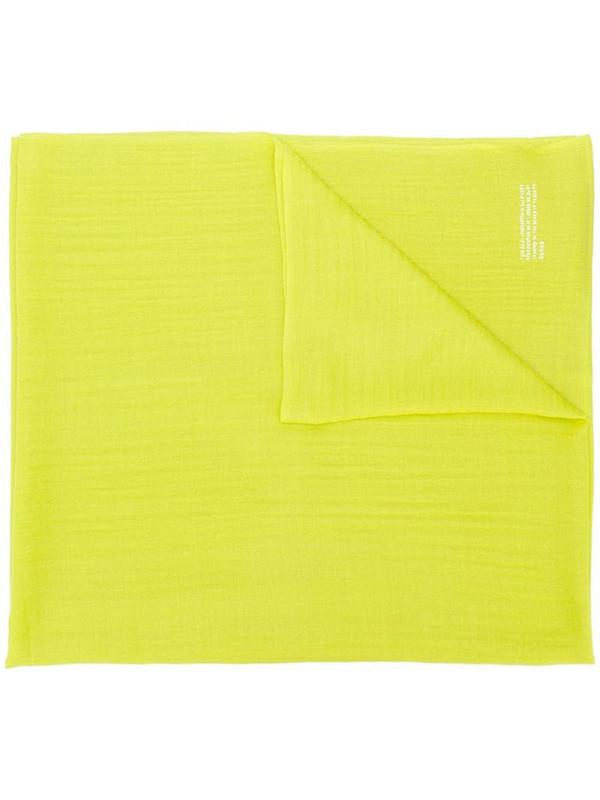 Zucca long plain scarf in green