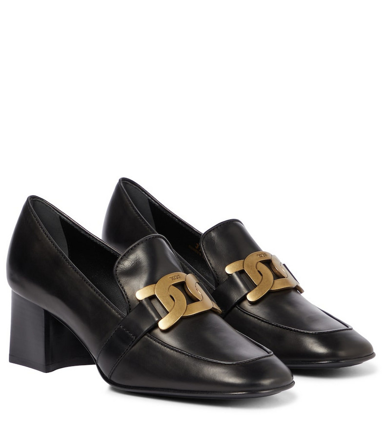 Tod's Kate leather loafers in black