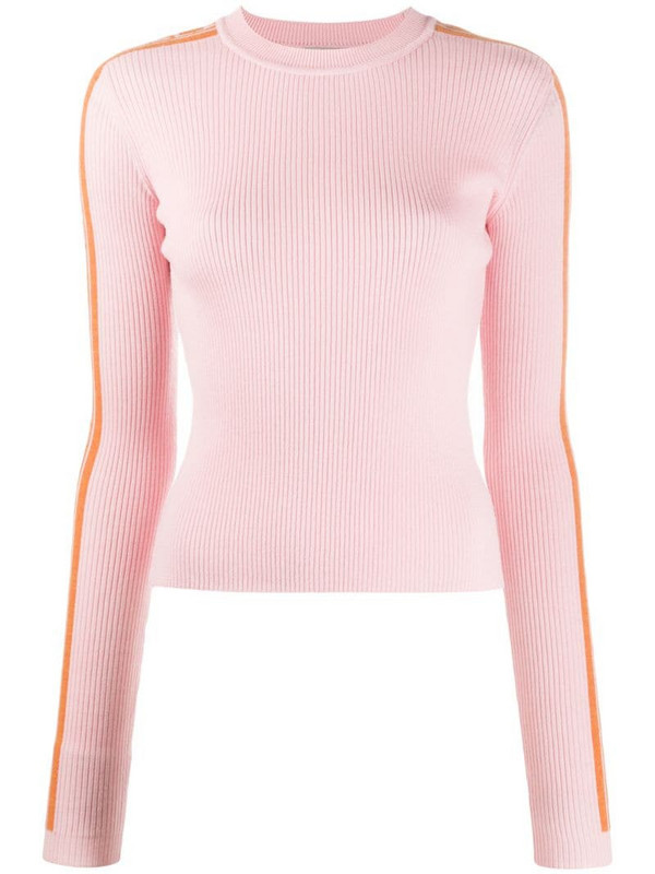 Fiorucci side-logo ribbed-knit jumper in pink