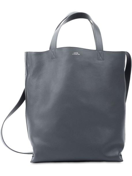 A.P.C. Medium Cabas Maiko Tote Bag in grey