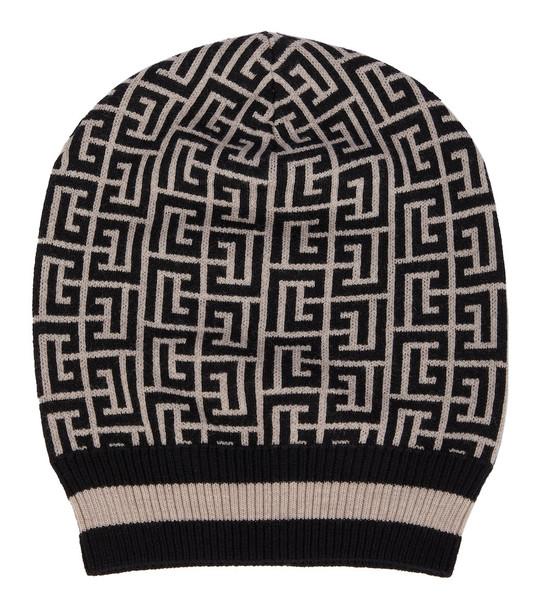 Balmain Merino wool beanie in black