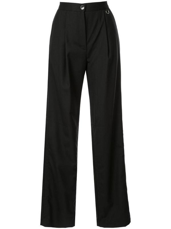 Boyarovskaya high waisted straight trousers in black