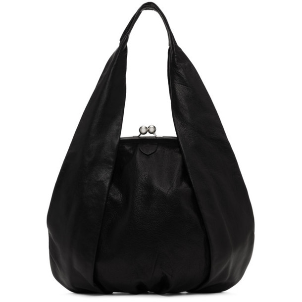 Ys Black Large Clasp Hand Bag