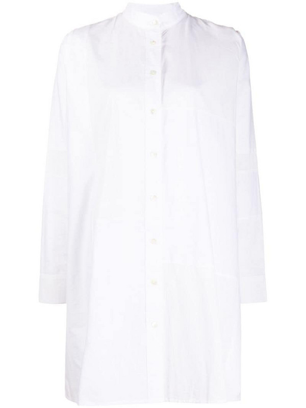 Soulland Elisa button-up midi dress in white