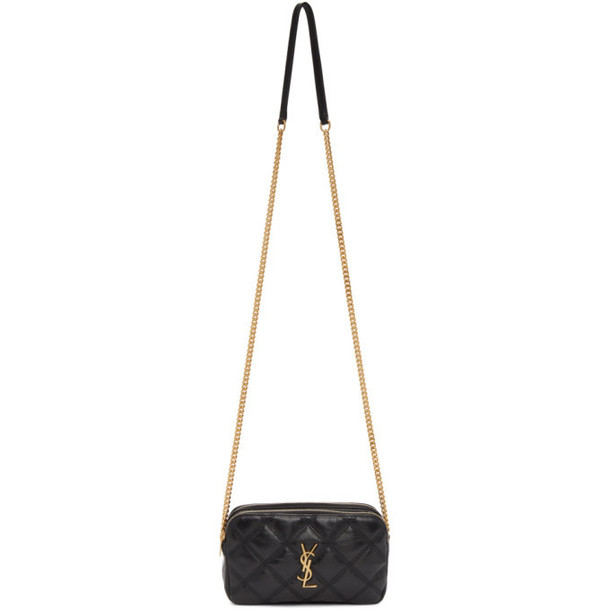 Saint Laurent Black Becky Double Zip Camera Bag