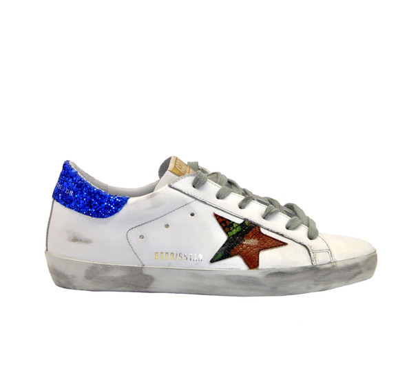 Golden Goose Sneakers Superstar Bianco Pitone Multi
