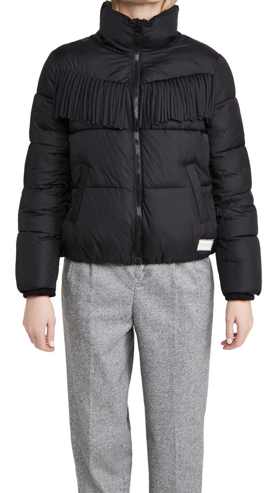 Scotch & Soda/Maison Scotch Quilted Western Jacket in black