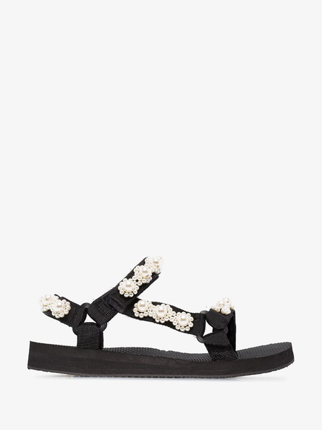 Arizona Love Black pearl embellished sandals