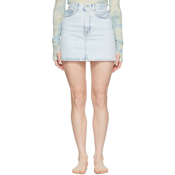 Off-White Blue Denim Miniskirt