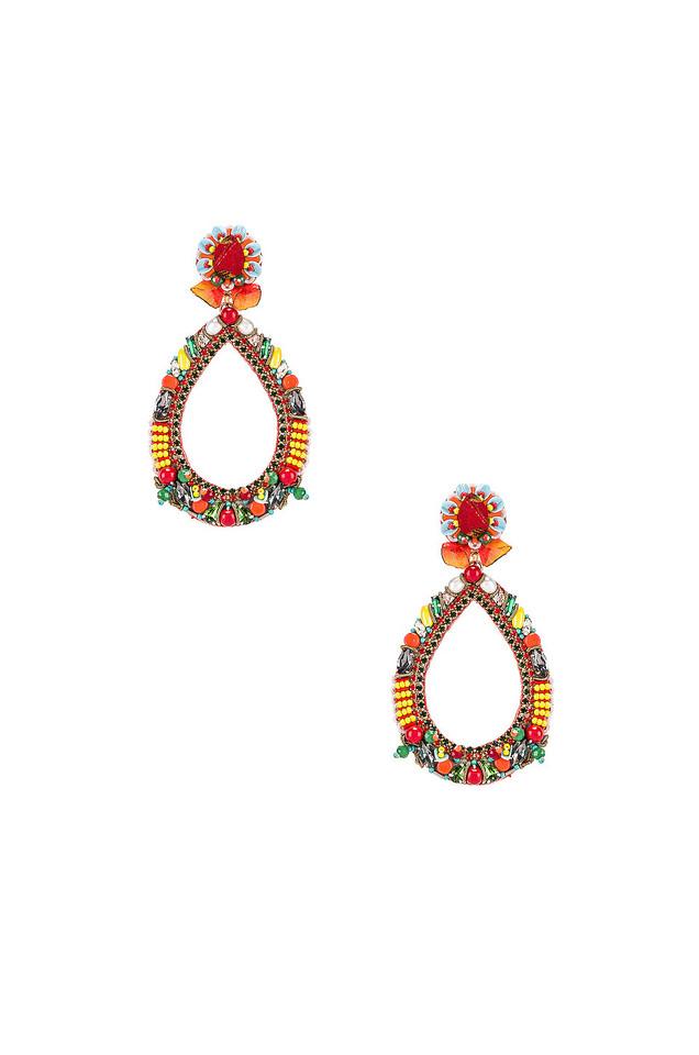 Ranjana Khan Fiesta Teardrop Earring in orange