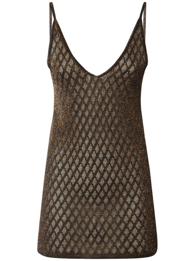 MISSONI Viscose Blend Knit Top in black / gold