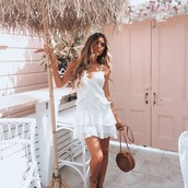 dress,white,summer,lace,mini,frill