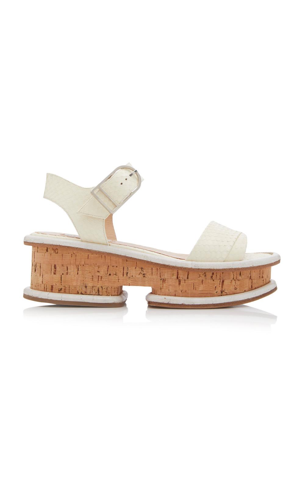 Gabriela Hearst Bradley Platform Sandals in neutral