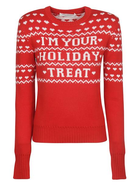 Philosophy di Lorenzo Serafini Im Your Holiday Treat Sweater in bianco