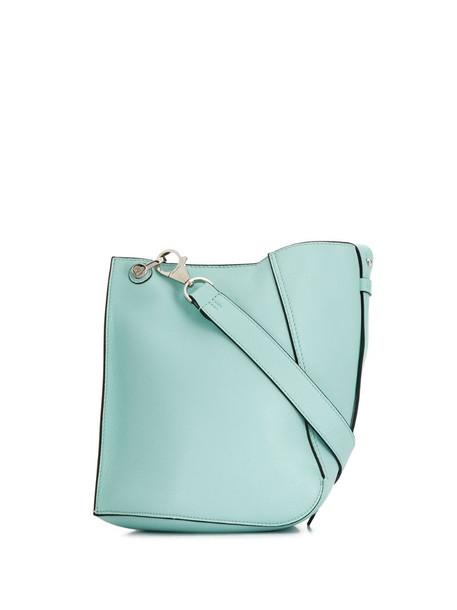 LANVIN small Hook bucket bag in blue