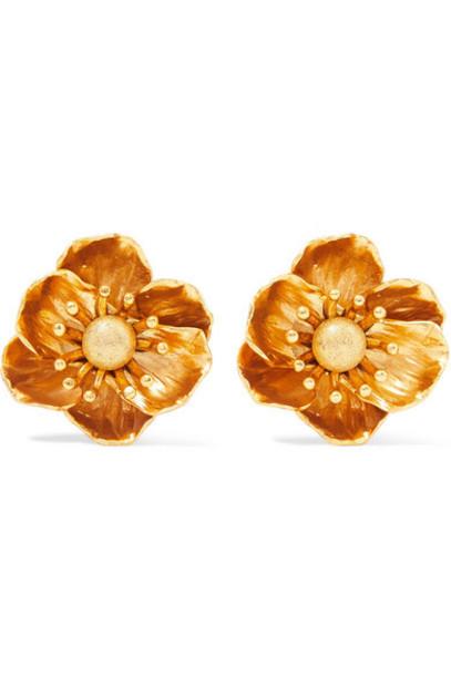 Oscar de la Renta - Gold-tone Clip Earrings