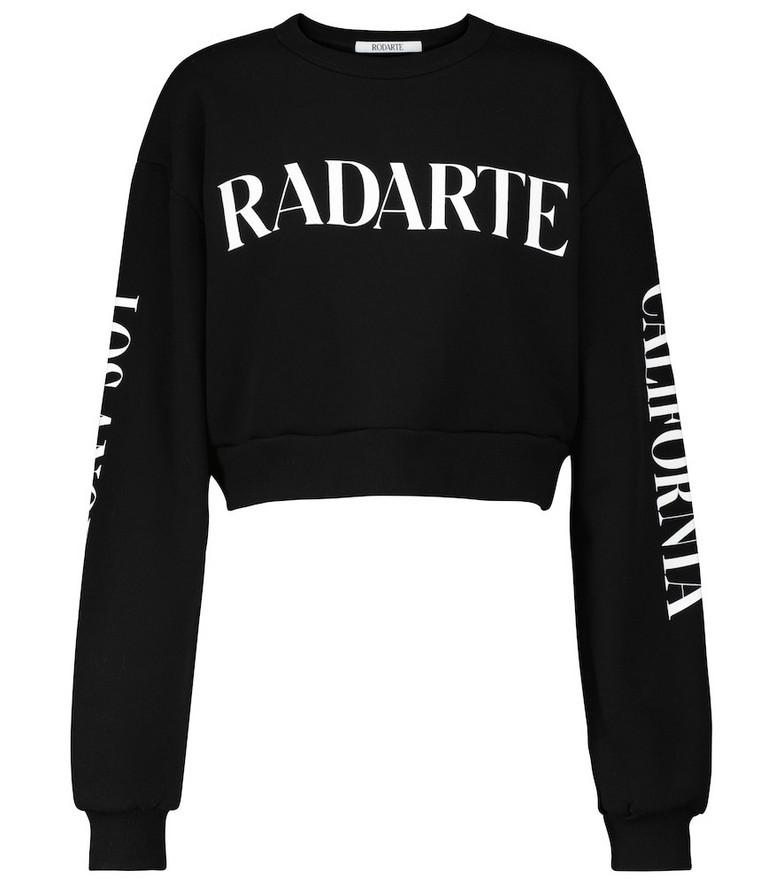Rodarte Radarte cotton-blend crop sweatshirt in black