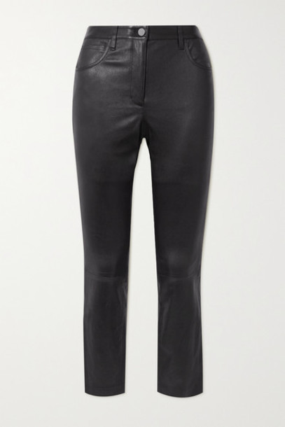 Theory - Leather Skinny Pants - Black