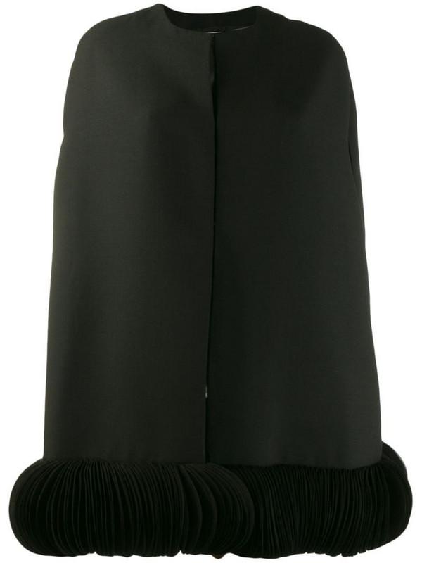 Valentino embroidered crêpe couture cape in black