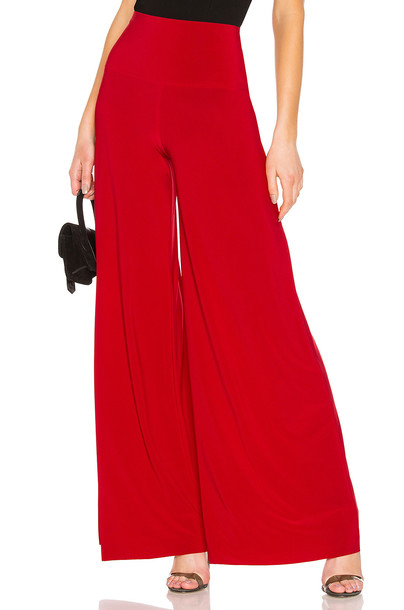 Norma Kamali Elephant Pant in red