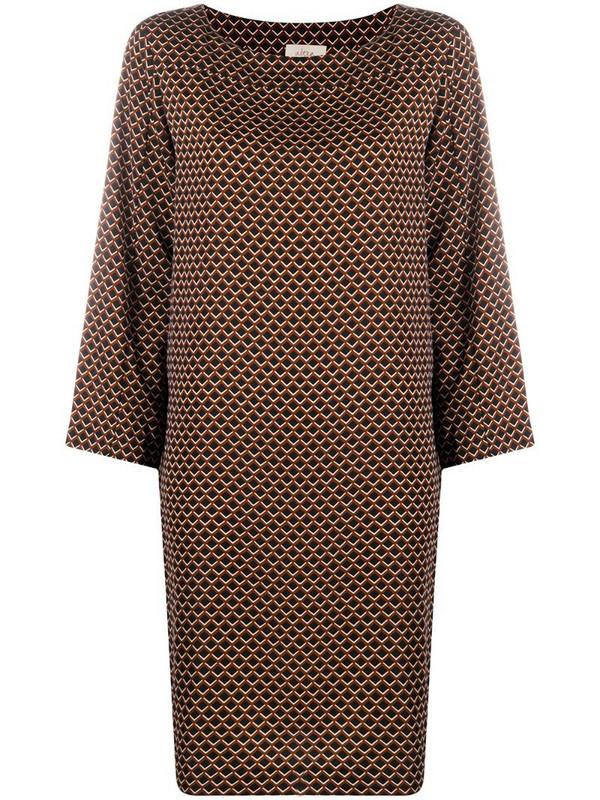 Altea geometric-print midi dress in black