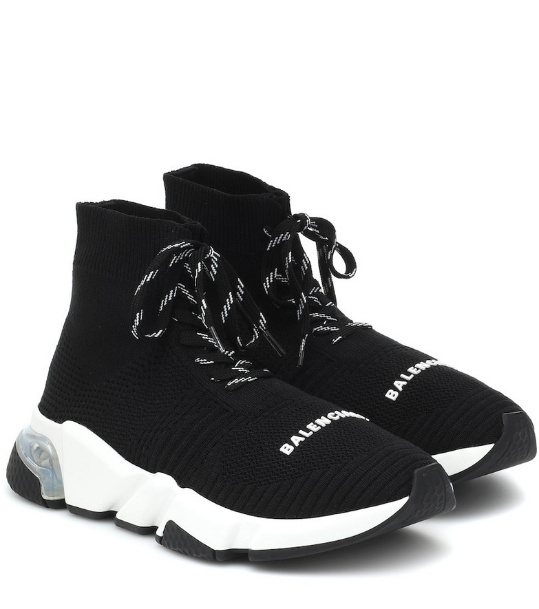 Balenciaga Speed lace-up sneakers in black