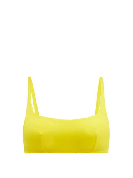 Araks - Quinn Scoop Neck Bikini Top - Womens - Yellow